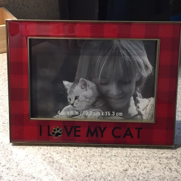 Other I Love My Cat Picture Frame 4x6 Red Plaid Gold Poshmark